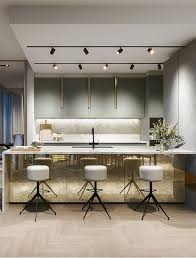 cool track lighting installation above the kitchen island 32 cool and functional track lighting ideas digsdigs