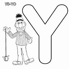 learn letter yo yo sesame street coloring bulk color