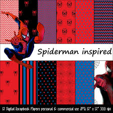 Spiderman Free Printable Invitations Cards Spiderman Inspired Red Black Blue Polka Dot Digital Paper