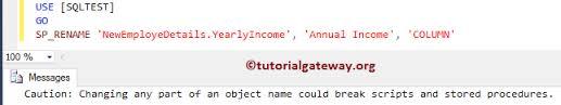 Sql Change Table Name Rename Table Name And Column Name In Sql Server