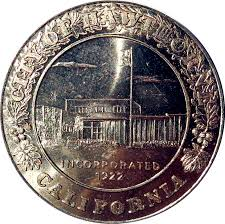 city of hawthorne california coin expo 1966 space theatre of