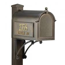 Bronze Wall Mount Mailbox Capital Mailbox And Deluxe Post Set Superior Package Outdoor