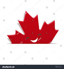 funny maple leaf canadian flag stock vector 168536123 shutterstock