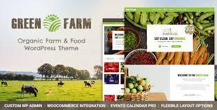 theme wordpress agriculture green farm organic food farm eco food store wordpress theme by