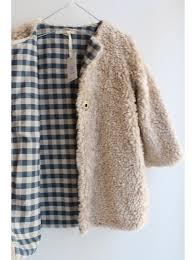 cute jacket pattern jacket textured fluffy outside pattern gingham inside pigve