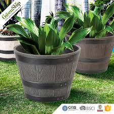 Where To Buy Large Planters by Unique And Decorative Barrel Planters