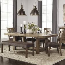dining room tables with benches and chairs bench kitchen dining room sets you ll love wayfair