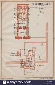 medinet habu floor plan mortuary temple of ramesses iii egypt