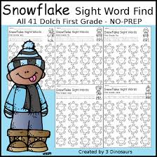 printable word search puzzles for 1st graders snowflake sight word find 3 dinosaurs