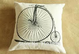 taie d oreiller pour canapé impression vélo vélo coton décoratif taie d oreiller pour
