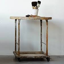 Wood And Metal End Table Carts U0026 Tables Antique Farmhouse