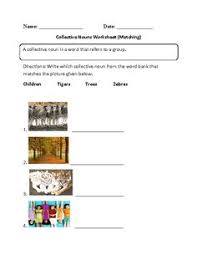 collective nouns worksheet fill in part 2 beginner where the