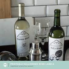 halloween wine bottle labels blog u2014 pinch paper co