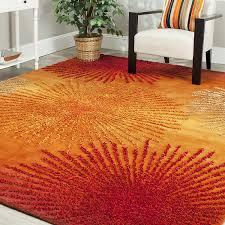 Modern Orange Rug Safavieh Soho Collection Soh712r Handmade Fireworks