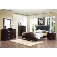 espresso queen bedroom set contemporary casual espresso 6 piece queen bedroom set edina rc