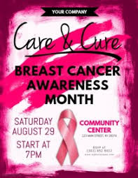 breast cancer poster templates postermywall