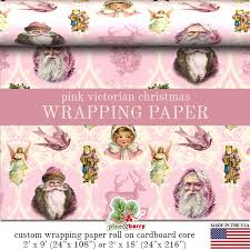 custom christmas wrapping paper pink christmas wrapping paper roll by pineandberryshop