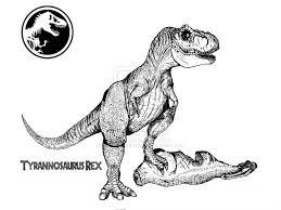 tyrannosaurus rex coloring page free download