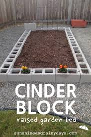 how to build a cinder block raised garden bed sunshine and rainy cinder block raised garden bed