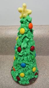 ice cream cone christmas trees with a surprise treat inside