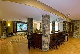 finished basement home theater stone columns phoenixville pa