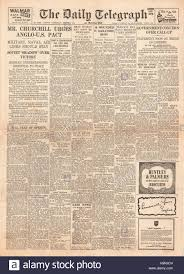 Iron Curtain Speech 1946 Daily Telegraph Churchill Delivers