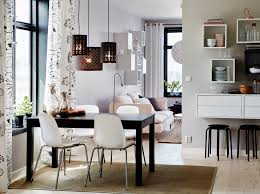 black table white chairs dining room furniture ideas ikea