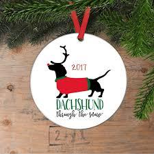 dachshund christmas ornament doxie christmas gift