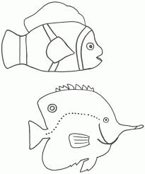 tropical fish coloring page free printable fish crafts sheet