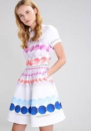 ted baker myley jersey dress white zalando co uk