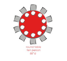 10 person round table dining table sizing guide eurway modern furniture