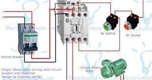 single phase contactor wiring diagram gooddy org