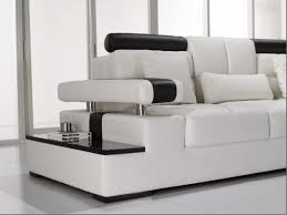White Leather Sectional Sofas Modern White Leather Sectional Sofa
