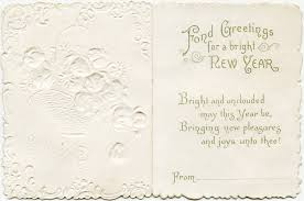vintage floral card fashioned card antique new years