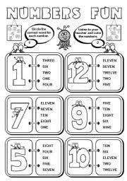 worksheet numbers fun 1 12 2 pages