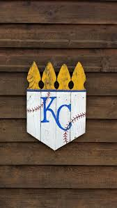rustic 16x22 kc picket crowns kansas city royals crown kc royals