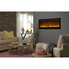 interior touchstone sideline wall mount electric fireplace for