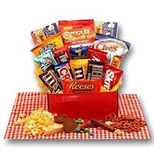 Snack Basket Delivery Amazon Com All American Favorites Snack Care Package Grocery