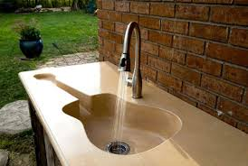outdoor kitchen sinks and faucets guitar shape outdoor kitchen sink convenience outdoor kitchen