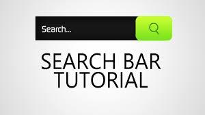 web design tutorial search bar youtube