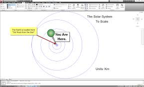 the solar system drawn to scale in autocad dwg scale is everything