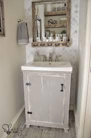 DIY Bathroom Vanity Shanty  Chic - Bathroom sinks and vanities for small spaces 2