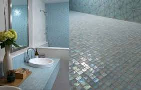 Tile Floor In Bathroom Welcome To Oceanside Glasstile