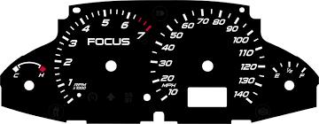 2003 ford focus instrument cluster lights black cat custom automotive ford focus gauge faces led lighting kit