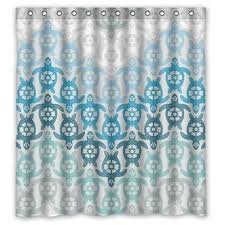 turtle bathroom decor bathroom decor alibaba group memory home personalized cartoon series sea turtle blue and white chevron style sold by too amazing shower curtain bath decor