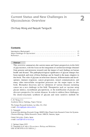current status and new challenges in glycoscience overview springer