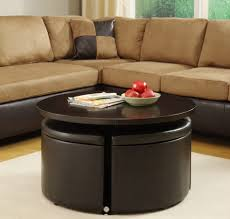 coffee table with storage ottomans underneath coffee table with