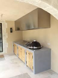 cuisine d exterieure cuisine d été avec plan de travail en inox so inox