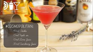 cosmopolitan martini recipe diy cosmopolitan how to make cocktails at home youtube