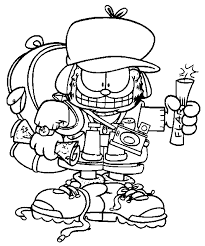 garfield coloring page 2